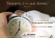 Congregação Lavrinhas comemora 61 anos nos dias 1 e 3 de novembro